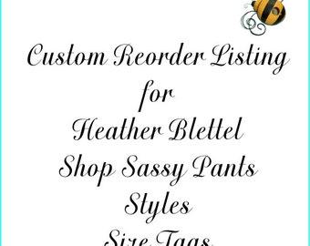 Custom Reorder Listing for Heather Blettel
