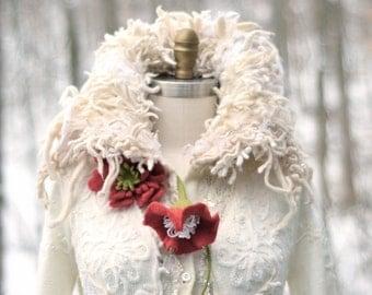 Custom long white Sweater coat for Eva. Winter Wonderland fairy tale, Fantasy one of a kind bespoke outerwear