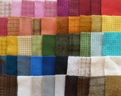 SALE Hand Dyed Felted Wool Scraps Bundle Number 1183 By Quilting Acres - Wool Applique - Quilting - Penny Rugs