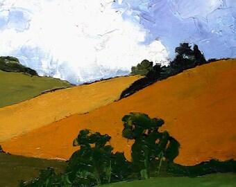 Impressionist Painting Plein Air California Landscape Agoura Hills Lynne French 16x20