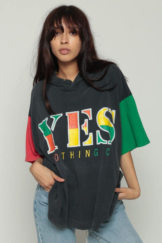 Hooded Shirt Yes Clothing Rasta Tshirt 80s T Shirt Hoodie Xl