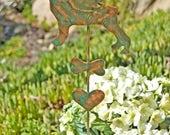 ON SALE Boston Terrier Garden Stake / Metal Garden Art / Pet Memorial / Garden Copper Art / Pet Grave Marker / Pet Sculpture / Dog Memorial