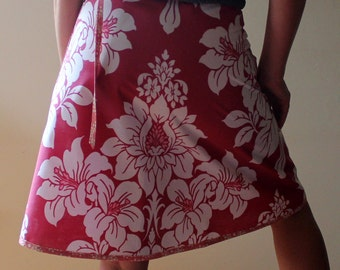 Wrap Skirt, floral print (one size fits most small - large) with pocket.
