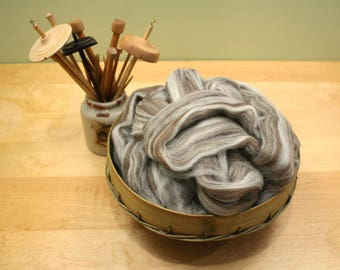 Shetland Wool Top - Humbug - Undyed Roving for Spinning or Felting (4 lbs)