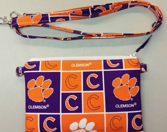 Clemson Tigers purse/ messenger bag with adjustable strap