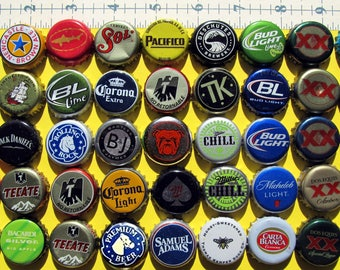 BEER BOTTLE CAPS all different and fun for Mosaic Tiles Set