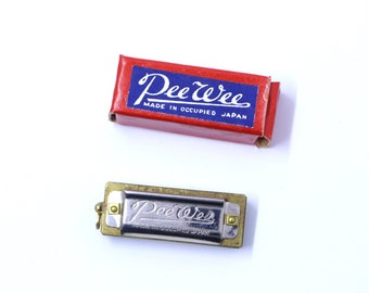 Vintage Miniature Harmonica Pee Wee Occupied Japan