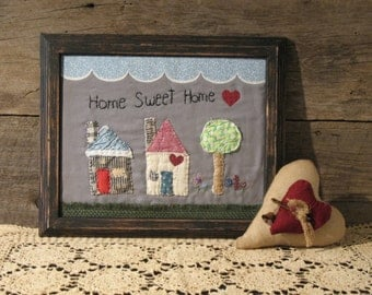 Home Sweet Home Country Primitive Stitchery