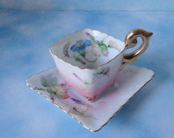Made in Occupied Japan Miniature Porcelain Cup and Saucer.