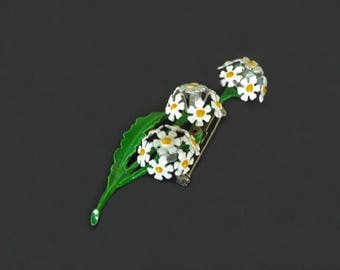 Vintage Costume Jewelry Brooch, Flower Brooch, Daisy Flowers, Jewelry Accessories, Women's Accessories, Casual Jewelry, Enamel Flower