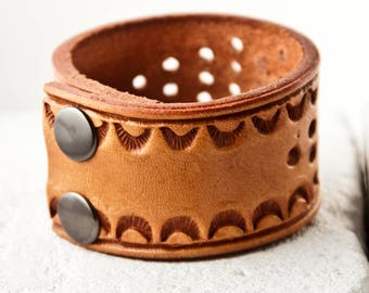 Leather Cuff, Leather Jewelry, Leather Bracelet, Leather Wristband