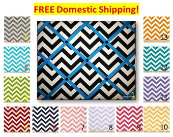 Chevron French Memo Board 16 x 20, Chevron memo board, Chevron Bulletin Board, chevron ribbon board, chevron picture board, picture frame
