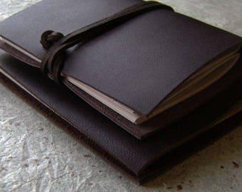 "2 small slim notebooks/memo pads, approx. 4"" x 6"", 3.5"" x 4.5"", little sketchbooks, slim journals, (2513)"