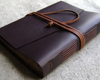 "Leather journal, 5.5""x 7.5"", handmade leather journal, vintage style diary, leather travel journal,  (2521)"