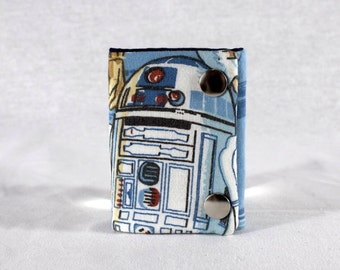 Star Wars R2D2 3 Fold Chain Wallet Recycled