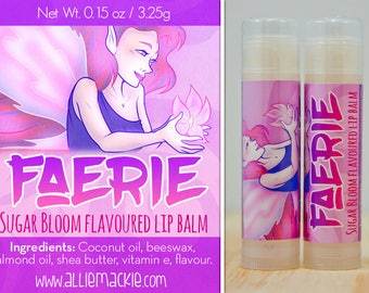 Faerie sugar bloom honey rose flavoured lip balm natural flavour