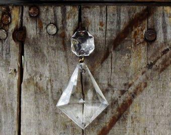 Vintage Kite Shaped Prisms Lot of 2 Glass Chandelier Prisms