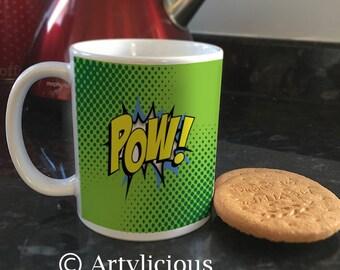 POW green Comic FX Coffee cup Tea mug