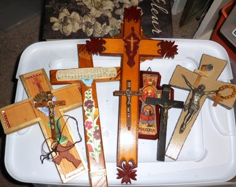 Lot of Crosses Crucifixes / Crosses Christian Art  In the Year of Our Lord