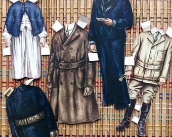 Lot of Vintage Paper Dolls--Men's Wardrobe