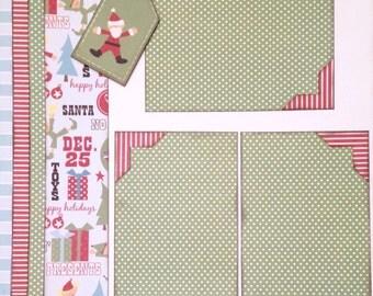 Scrapbooking Kit 2 Page Christmas 12x12 Premade