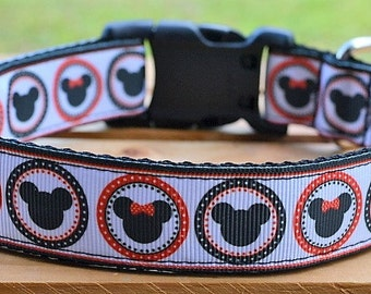 Minnie Mickey Mouse dog collar & or leash