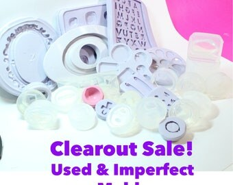CLEARANCE Used or Imperfect Pendant, Earring, Frames and Random Molds; Bulk Bag