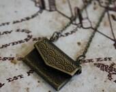 ON SALE Envelope Necklace - Letter Necklace - Mini Envelope Necklace