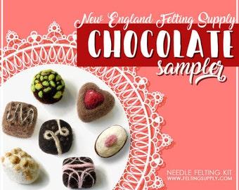Chocolate Sampler Needle Felting Kit