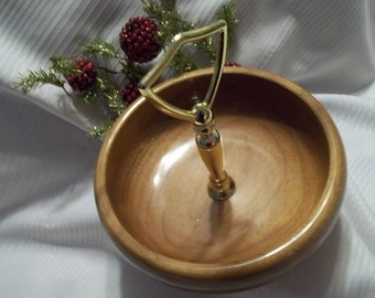 Handsome Myrtlewood Nut & Snack Serving Bowl - Vintage - Collectible - Home Decor - Kitchen - Serving - Party - Barware
