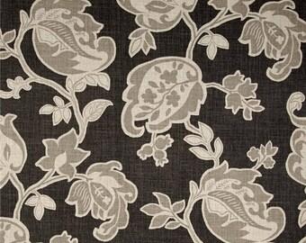 Pair of designer curtain panels drapes, Magnolia Arabella barley