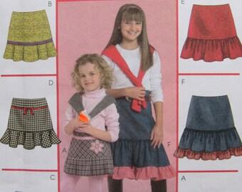 McCalls M5169/Uncut Sewing Pattern/Girls Skirts/Size 3-4-5-6/2006