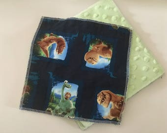 Cloth Minky Wipes, Baby Shower Gifts- 5 pack - Dinosaur