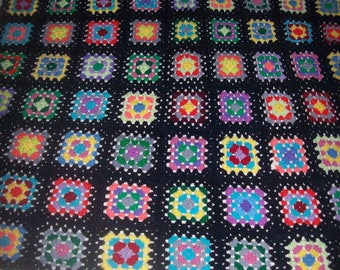 "Granny Square Afghan 54"" by 58"" Very good Condition"