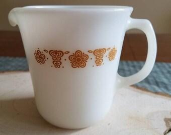 Pyrex Butterfly Gold Creamer/Tiny Pitcher