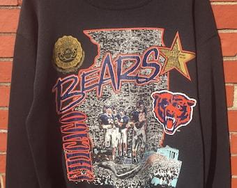 Chicago Bears Illinois nutmeg spots crew neck sweatshirt large black