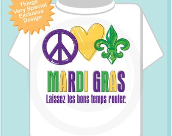 Peace Love Gumbo Mardi Gras Shirt or Onesie Bodysuit, Mardi Gras Shirt for Toddlers and Kids or Adults 12302016a