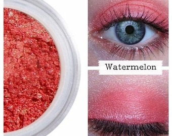 Watermelon Eye Shadow, Pink Red Berry, Eye Shadow, Natural Mineral Eye,  Certified Cruelty Free, Red Eye Color, Watermelon Makeup, Summer