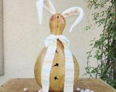 Easter Gourd Bunny Rabbit Natural Carved Centerpiece Decoration