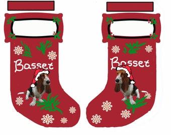 Basset Hound Cut and Sew Christmas Stocking