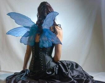 Blue smaller triple fairy wings