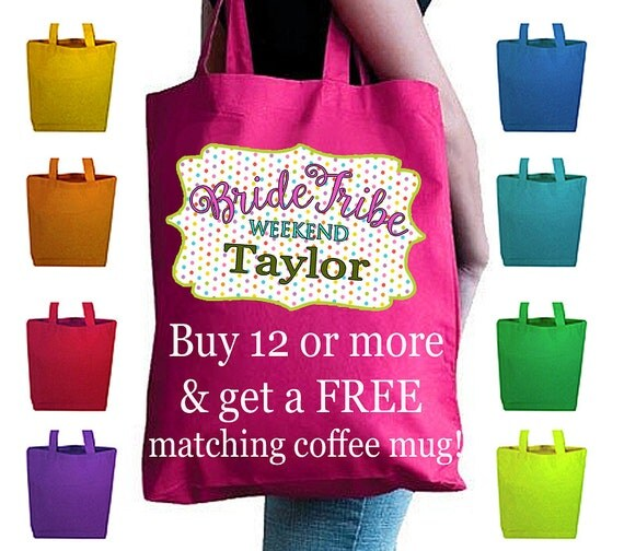 Bridesmaid Bags, Bridesmaid Totes, Bridesmaid Gifts, Canvas Bags Personalized, Bride Tribe Bags, Wedding Gifts, Wedding Party Favors, Totes