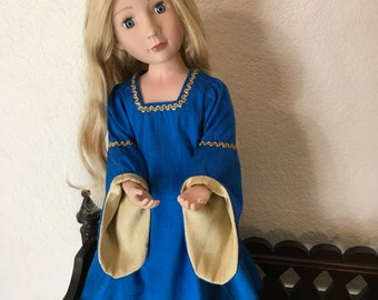 Medieval  Style Dress for 16 inch Doll