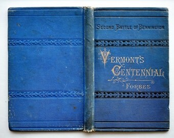 1877 Antique Blue Book Covers