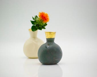 Bud vase - ceramic vase - flower pot - teacher gift - desk vase - home decor - mini vase - pottery vase - ready to ship