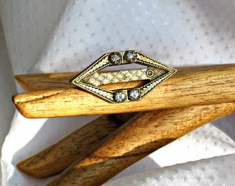 Edwardian Pin Antique Rhinestone Brooch Vintage 1900 Jewelry