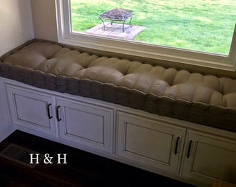 Custom bench cushion etsy - Made to measure bench seating ...