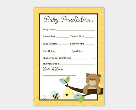baby predition card pdf download free