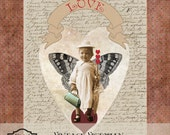 Victorian Vintage Valentine Collage Sheet Printable Digital Download