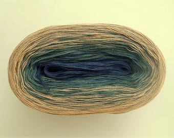 GENEVA II  Color Changing Cotton yarn  480 yards/100 gr  Fingering Weight